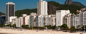Panoramic view of copacabana beach in rio de janeiro  brazil medium